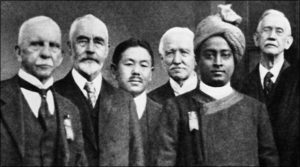 Yogananda with international congress of religious leaders in Boston.